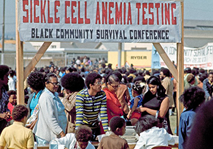 Black Panther Party sickle cell anemia screening