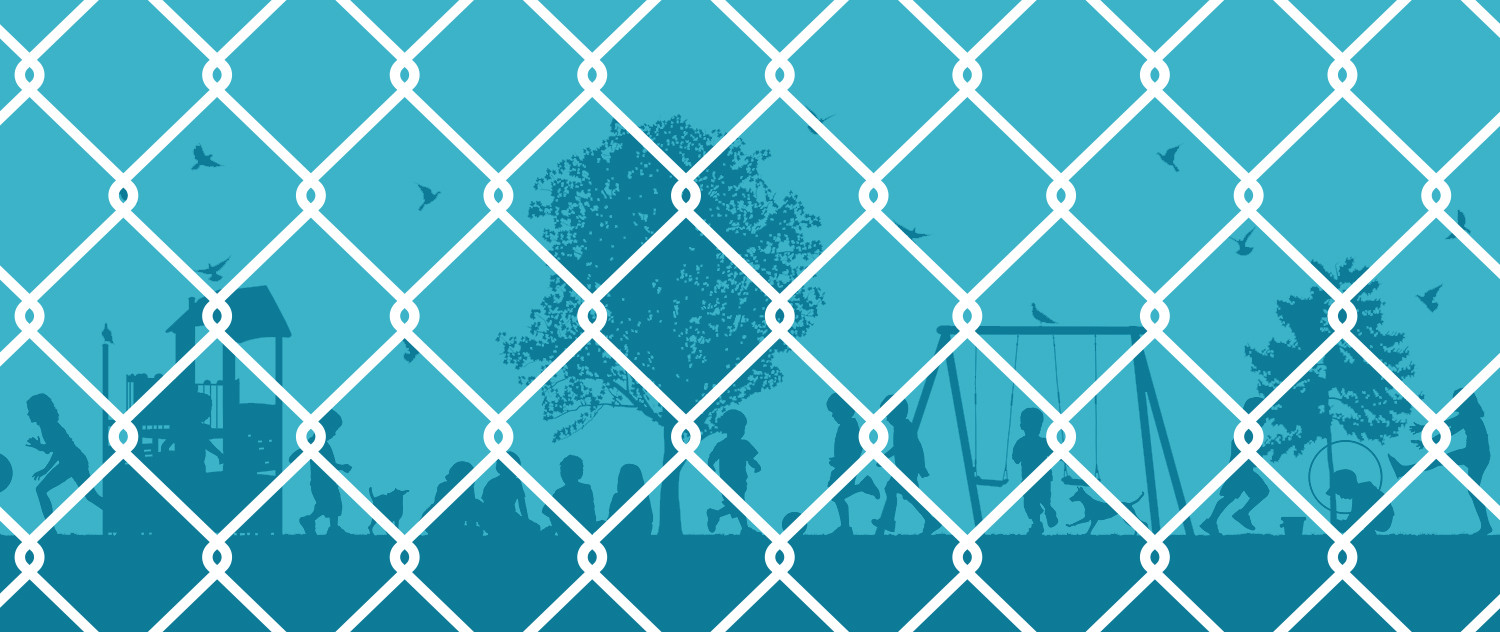illustration of a fence around a playground