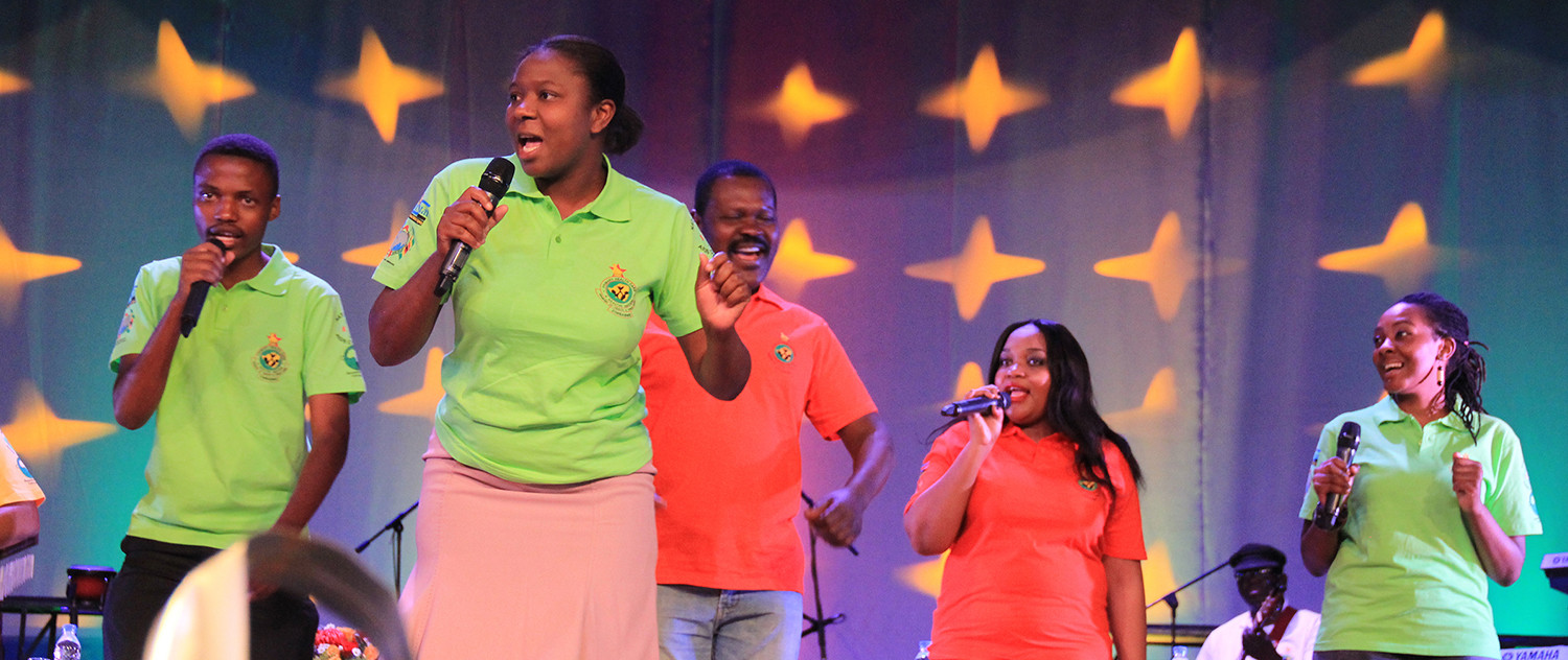 HIV outreach singers performance
