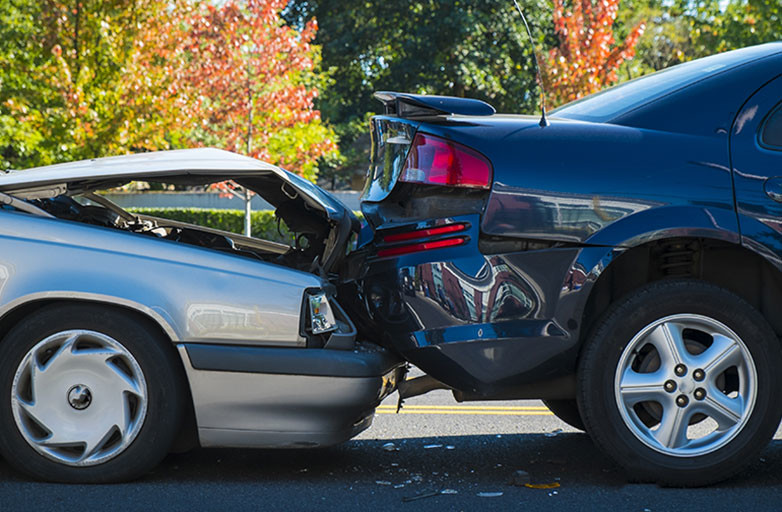 Car accident involving two vehicles