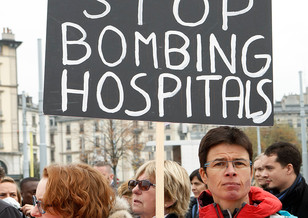 Doctors Without Borders protest