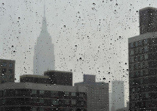 NYC in the rain